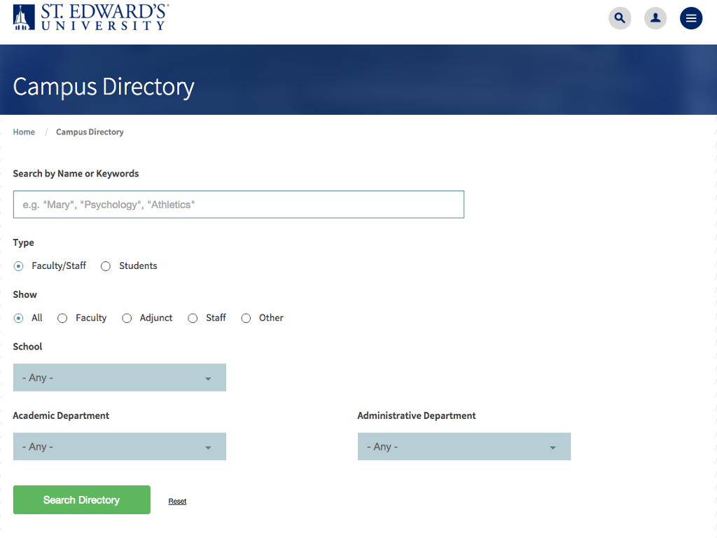 Search the directory by name or keyword.