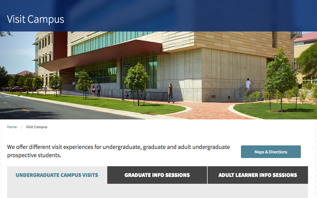 Visit campus page of stedwards.edu.
