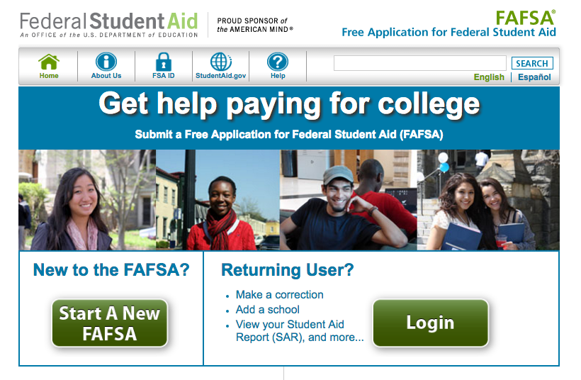 The Department of Education's financial aid site.