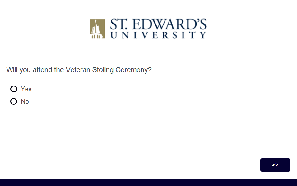 Image of the Veteran Affairs graduation form.
