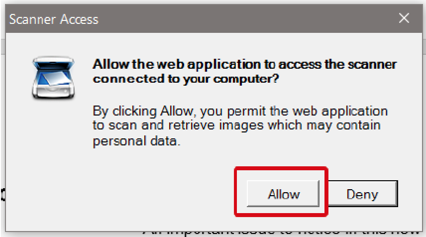 Installation prompt to enable the application